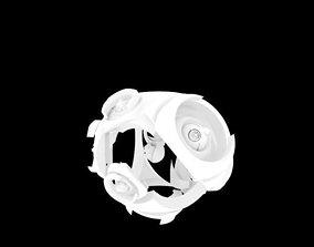 Eyed mecha robot 3D model