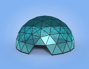 3D model low-poly Geodesic Dome