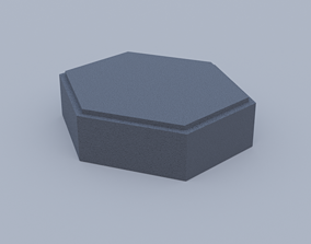 hexagon paving stone 3D printable model abstract
