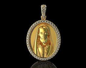 3D printable model JESUS With Diamonds Pendant
