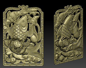 jewel Pendant of lucky fish 3D print model