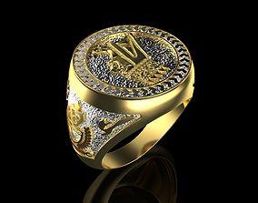 Ring with King Tigran II for men 3D printable model