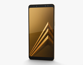 3D model phone Samsung Galaxy A8 2018 Gold