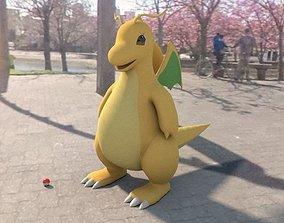 3D asset Pokemon dragonite