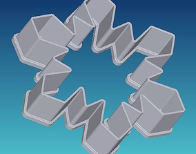 3D print model Snowflake cookie cutter 2