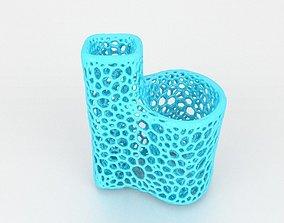 Voronoi Toothbrush Toothpaste Holder 3D printable model