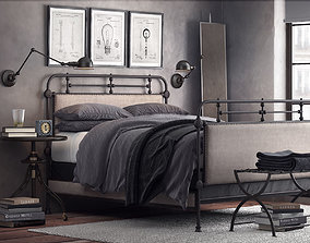 3D 1920s French style bedroom 034