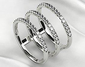 3D print model Gold Triple Ring