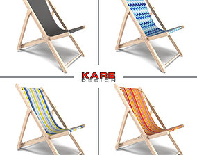 Kare Design Collection Deckchair 3D model