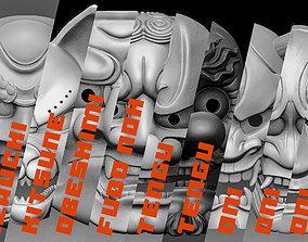 3D model ALL -Japanese Masks- MEGA PACK