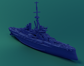 3D printable model Brazilian Battleship Sao Paulo 1911
