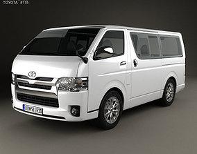 3D model Toyota HiAce LWB Combi 2013