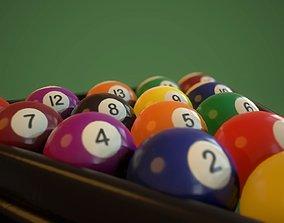 3D model realtime Pool Balls