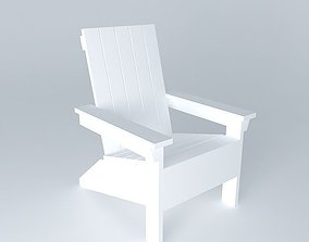 Adirondack chair 3D ana