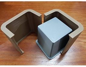 3D print model molde maceta cubo florero