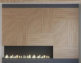 Wall Panel Set 118 Fireplace 3D model