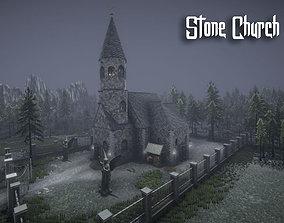 3D model Stone Church