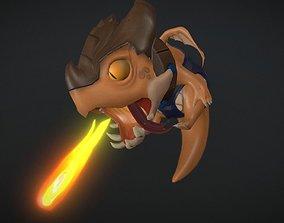 Little Dragon 3D asset animated