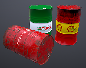 3D asset Oil Barrel - PBR -