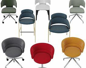 Debi Chair Set 3D model