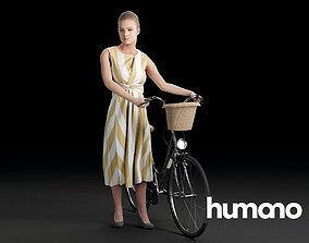 3D Humano Biking Woman 0712