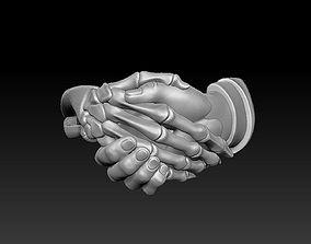 3D printable model Dead man handshake ring ready for print