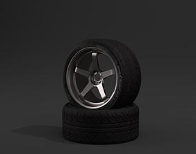 Advan GT sports racing wheel with Advan Neova 3D model
