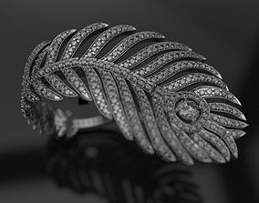 3D printable model plume de paon RING replica