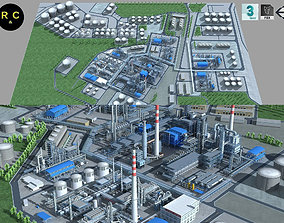 3D asset Complete Refinery Scene