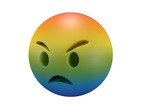 3D asset Angry Face v2 005