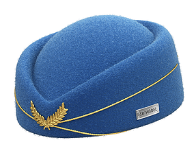 Stewardess Hat 3D model