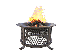 fire pit 3D flame