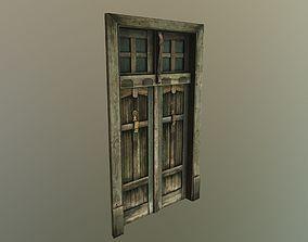 Old door low-poly model realtime