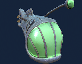 Anglerfish Submarine Hand-Painted 3D asset realtime