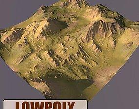 3D asset realtime landscape Lowpoly Mountain