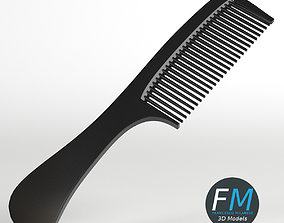 Hair comb with handle 3D