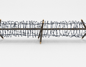 Lowpoly Barb Wire Obstacle 3D