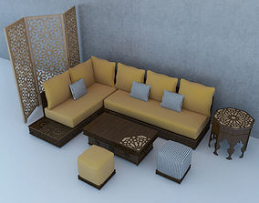 Traditional Moroccan Lounge Complet 3D model