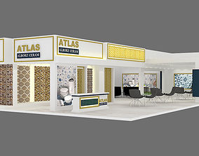 3D model exhibition stand 21