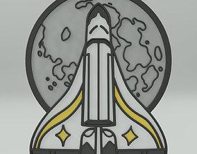 3D print model Ellie backpack Rocket pin badge tlou The 4