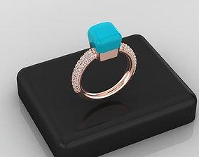 color ring pomelatto like 3D gem