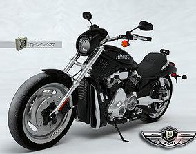 3D model Harley Black Knight