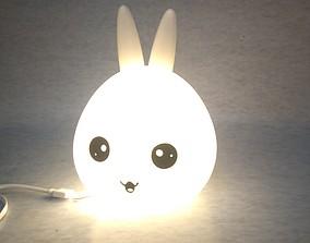 3D printable model Night light Bunny head
