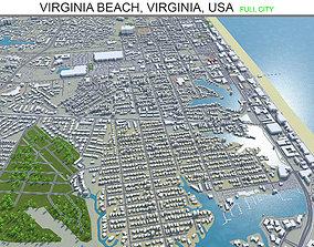 3D asset Virginia Beach Virginia USA 60km