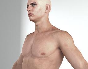 European man rigged lowpoly 3D model