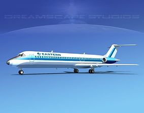 3D Douglas DC-9-40 Eastern Airlines 1