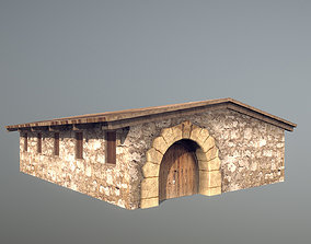 3D asset Stone Fort Stable
