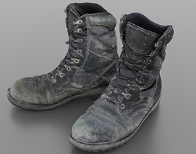 3D Worn and damaged military boots