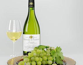 3D model Wine And Grape Set