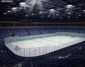 3D asset Hockey Arena